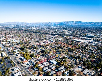 Birds eye view photo of Silicon Valley in California