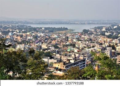 Birds eye view of Ranchi City , Jharkhand , India