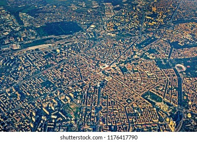 Bird`s eye view of Sofia, Bulgaria