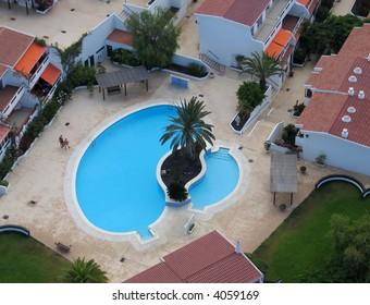 Bird's eye view of swimming pool