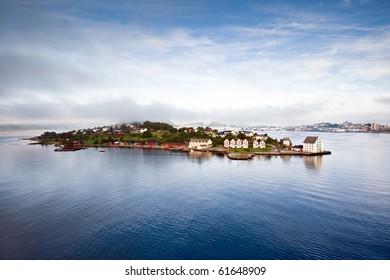 Bird's eye view of town, Alesund - Norway - Scandinavia