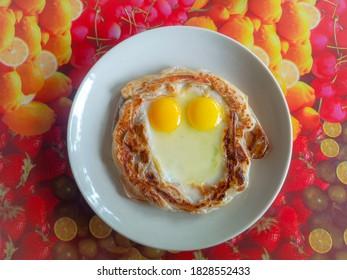 Birds nest bread on white plat