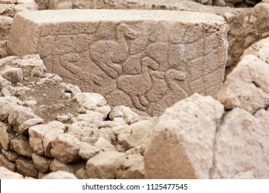 Birds stone in GobekliTepe. Ancient Site of Gobekli Tepe in SanliUrfa, Turkey (Göbeklitepe The Oldest Temple of the World). Gobekli Tepe is a UNESCO World Heritage site.