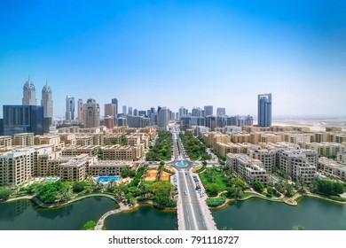 Birdseye city panorama