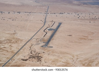 Birdseye view of Bar Yehuda, the world's lowest airfield (Israel)