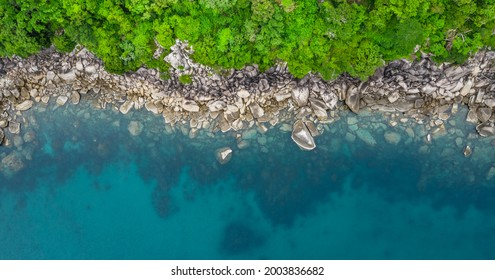 Birdseye view of Coastal Patterns no people with copy space