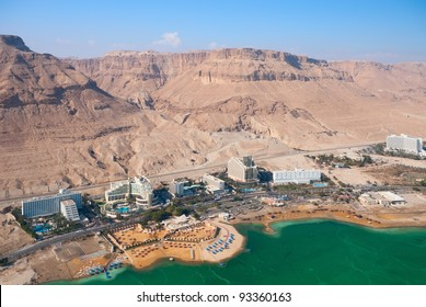 Birdseye view of the Ein Bokek resort, Israel