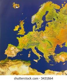 Bird's-eye view of Europe