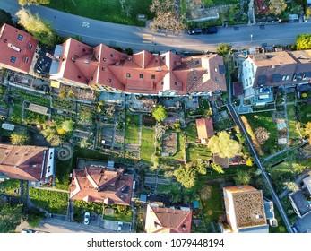 Birdseye View of gardens - Winterthur, Switzerland 2018