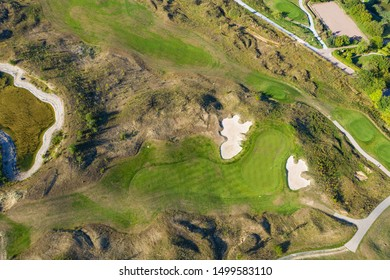 Bird's-eye view of a golf course in the Taunus / Germany