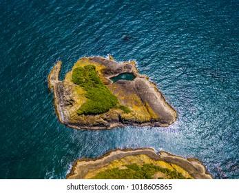 Birds-Eye View of Island