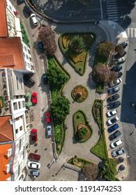 Birdseye view of Jardim das Mães - Viseu, Portugal 2018