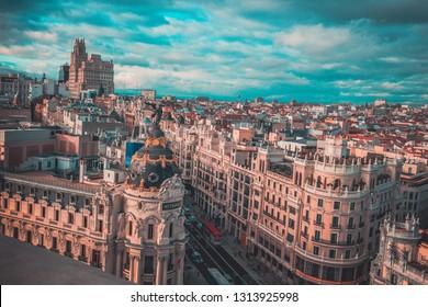 a bird's-eye view of Madrid