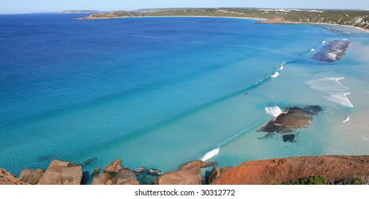 Birdseye view of West Beach, Esperence, Australia