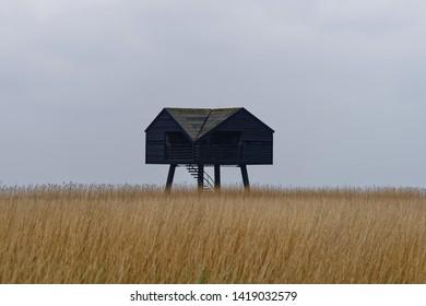 Birdwatching hut de Kiekkaaste at Dollard nature reserve