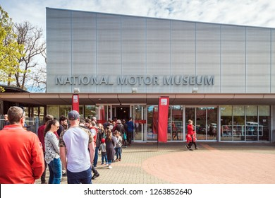 Birdwood, South Australia - September 10, 2017: People lined up in queue at the entrance to National Motor Museum of South Australia on a day