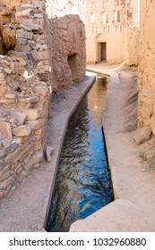 Birkat Al-Mawz Falaj System. A falaj in Oman refers to water that runs through a channel dug in the earth. The source of falaj water is groundwater found in the subsoil or valleys.
