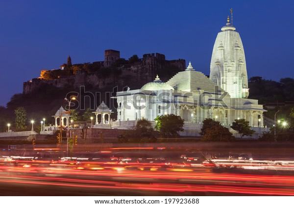 Birla Mandir (Laxmi Narayan) is a Hindu temple in Jaipur, India