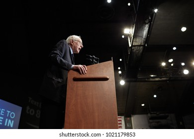 BIRMINGHAM, AL - JANUARY 18, 2016: Senator Bernie Sanders campaigns during the 2016 Democratic Primary.