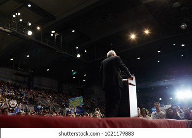 BIRMINGHAM, AL - JANUARY 18, 2016: Senator Bernie Sanders campaigns during the 2016 Democratic Primary.