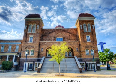 BIRMINGHAM, ALABAMA - APRIL 26: 16th St. Baptist Church April 16, 2012 in Birmingham, AL. Now a National Historic Landmark, the church is known for the tragic racially motivated bombing in 1963.