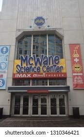 BIRMINGHAM, ALABAMA - JUL 24: McWane Science Center in Birmingham, Alabama, as seen on July 24, 2017. It opened to the public on July 11, 1998.
