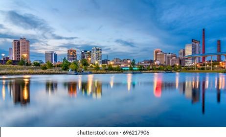Birmingham, Alabama, USA downtown city skyline.