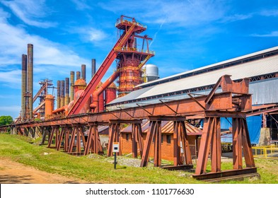 Birmingham, Alabama, USA historic pig iron blast furnace.