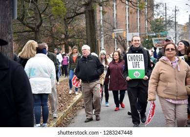 Birmingham, Alabama, USA  Jan 12, 2019 March for Life 2019