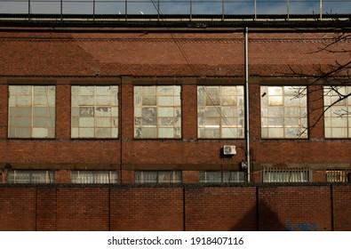 Birmingham, Bordesley, UK - 15 February 2021. Industrial warehouse building on Garrison Street