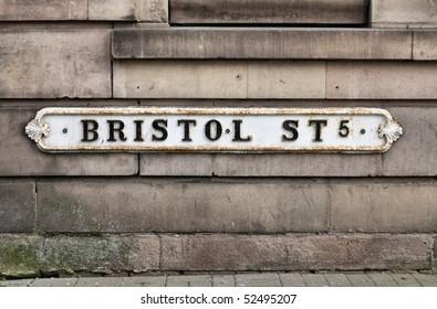 Birmingham - Bristol Street sign. West Midlands, England.