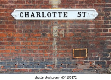 Birmingham - Charlotte street sign. West Midlands, England.