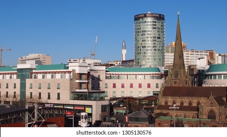 Birmingham city centre, bullring, debenhams and bt tower. 300 years of architecture. Taken 28th January 2019. 24mp.