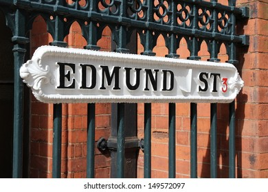 Birmingham - Edmund street sign. West Midlands, England.
