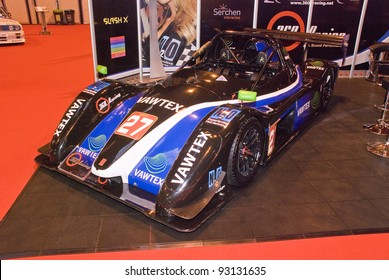 BIRMINGHAM, ENGLAND - JANUARY 15 : Race Car on January 15th 2012 in Birmingham, England, UK. The Birmingham NEC is the host of Autosport International Show
