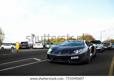 Birmingham England October 2017 Lamborghini Aventador Stock Photo