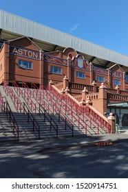 BIRMINGHAM, ENGLAND - SEPTEMBER 17, 2019: Exterior view of Villa Park in Birmingham, England