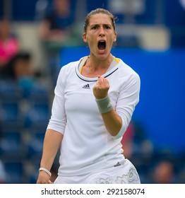 BIRMINGHAM, GREAT BRITAIN - JUNE 16 :  Andrea Petkovic celebrates a point at the AEGON Classic 2015 WTA Premier tennis tournament