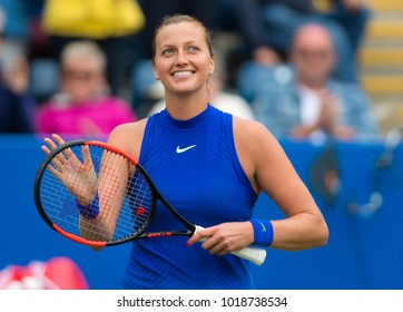 BIRMINGHAM, GREAT BRITAIN - JUNE 23 : Petra Kvitova the 2017 Aegon Classic WTA Premier tennis tournament