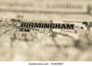 Birmingham on map.