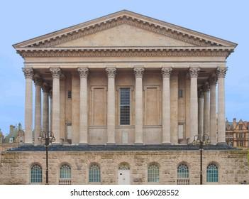 Birmingham Town Hall concert hall venue built in 1834 in Victoria Square, Birmingham, England, UK