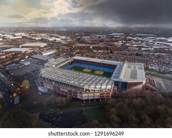 BIRMINGHAM, UK - 2016: Aston Villa Football Club Aerial View, Birmingham, UK