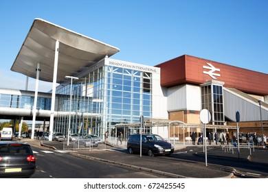 Birmingham, UK - 6 November 2016: Exterior Of Birmingham International Train Station At Airport