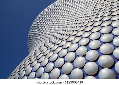 Birmingham, UK: June 29, 2018: Selfridges is one of Birmingham city's most distinctive and iconic landmarks. It is part of the Bullring Shopping Centre.