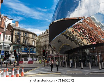 Birmingham, UK - May 07, 2016: Details of exterior of Grand central station