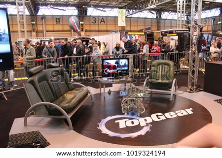 BIRMINGHAM UK October Top Stock Photo Edit Now - Car show chairs