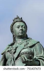 Birmingham, UK, October 3rd, 2017 : Statue of Queen Victoria in Birmingham,UK, Birmingham city council in the background.