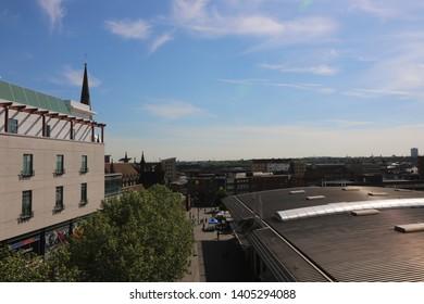 Birmingham UK. Taken May 2019. Debenhams building in Birmingham.