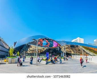 BIRMINGHAM, UNITED KINGDOM, APRIL 9, 2017: Birmingham new street train station in Birmingham, England
