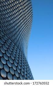 BIRMINGHAM, UNITED KINGDOM - CIRCA JANUARY 2014 - Modern Architecture of the Selfridges store at the Bull Ring